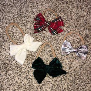 Little Poppy Co. set of 4 Holiday bow headbands